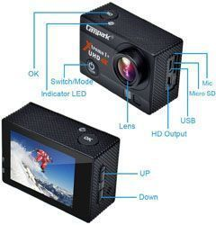 mini camara accion campark act74 4k